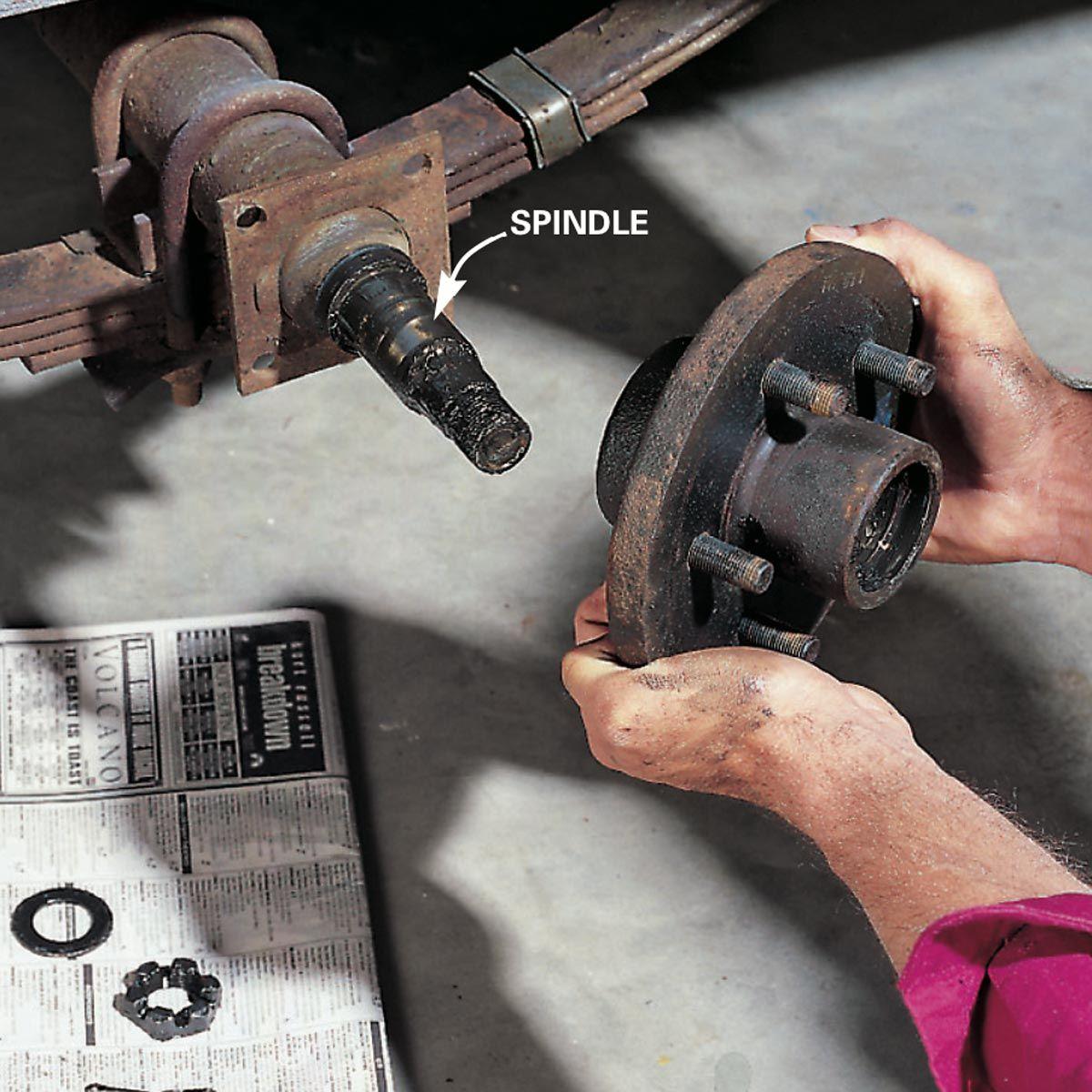 Repacking Trailer Wheel Bearings Utility trailer