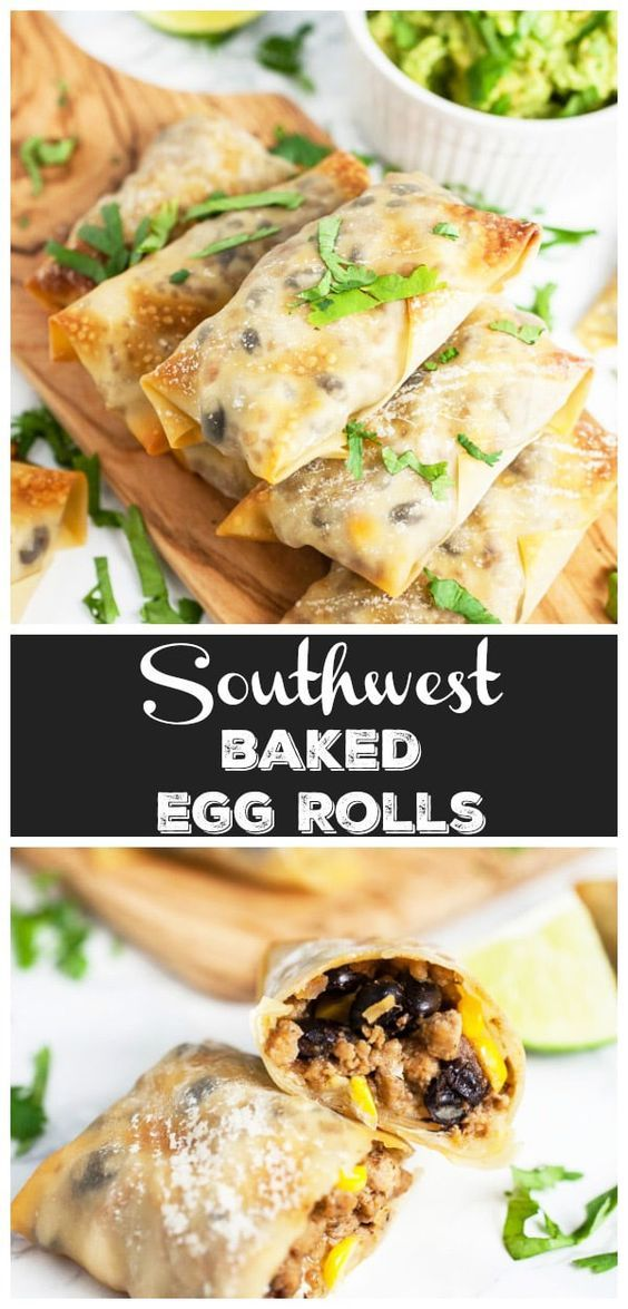 These Southwest Baked Egg Rolls are the perfect easy and