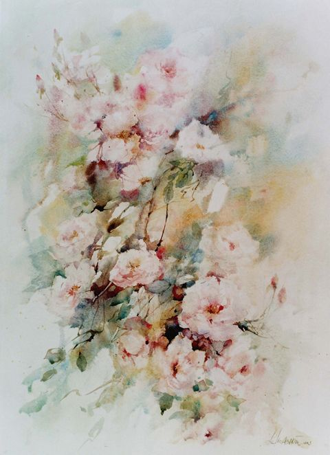Lelie Abadie Comment Peindre Des Roses Beaux Arts Et Aquarelle