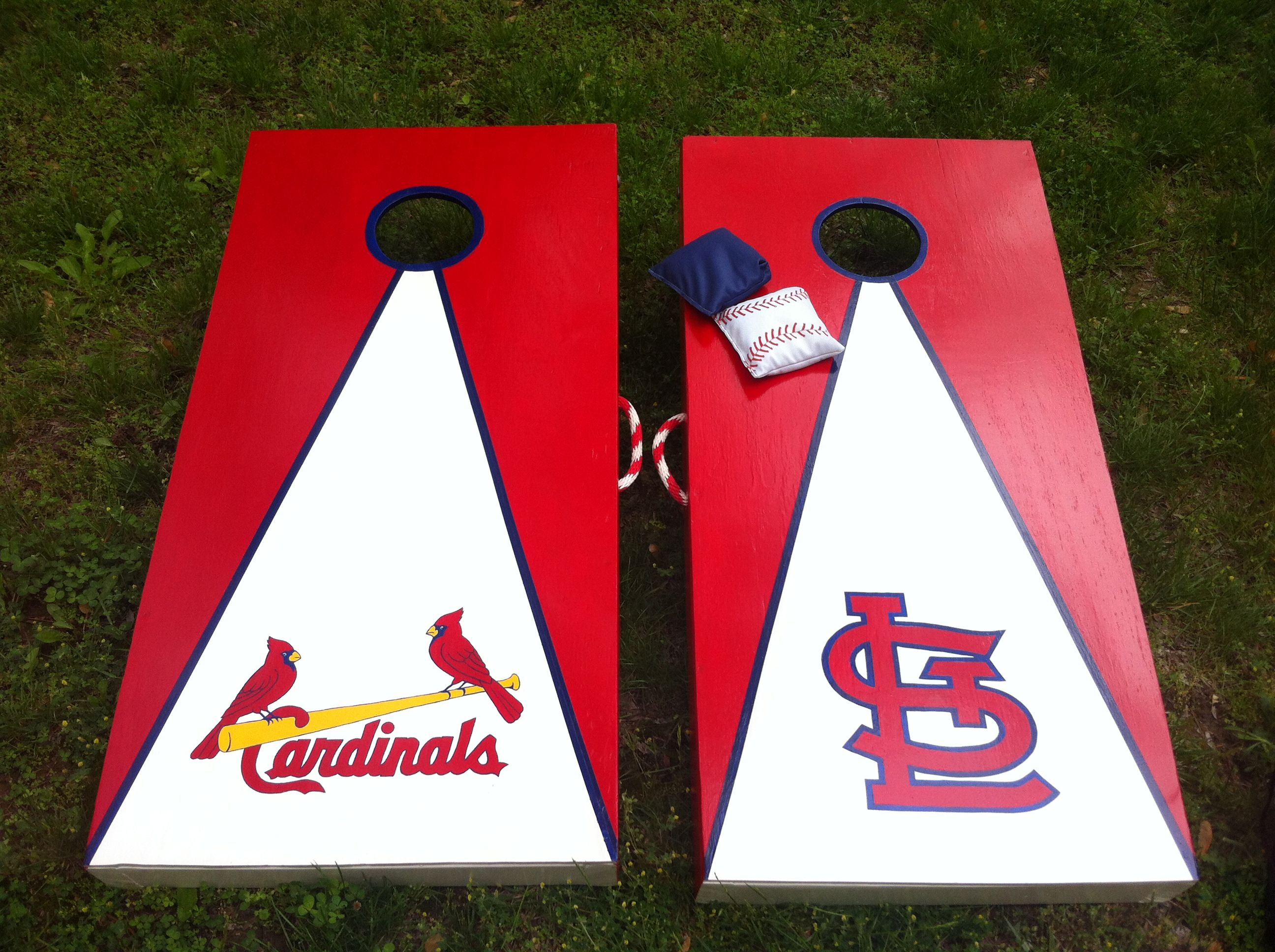 custom st louis cardinals cornhole set bags bought but boards made - Cornhole Boards For Sale