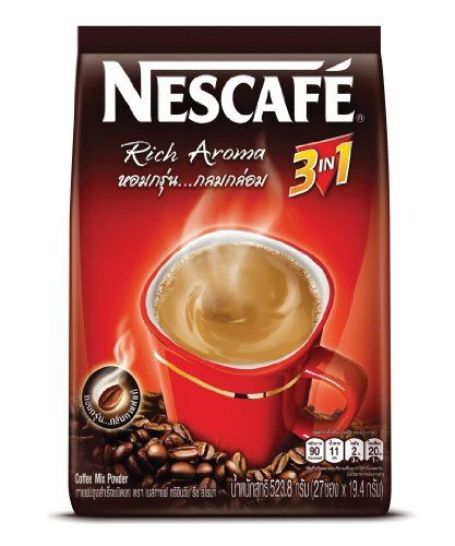 Nescafe Rich Aroma 3 In 1 Instant Coffee Pack Of 27 Sticks You