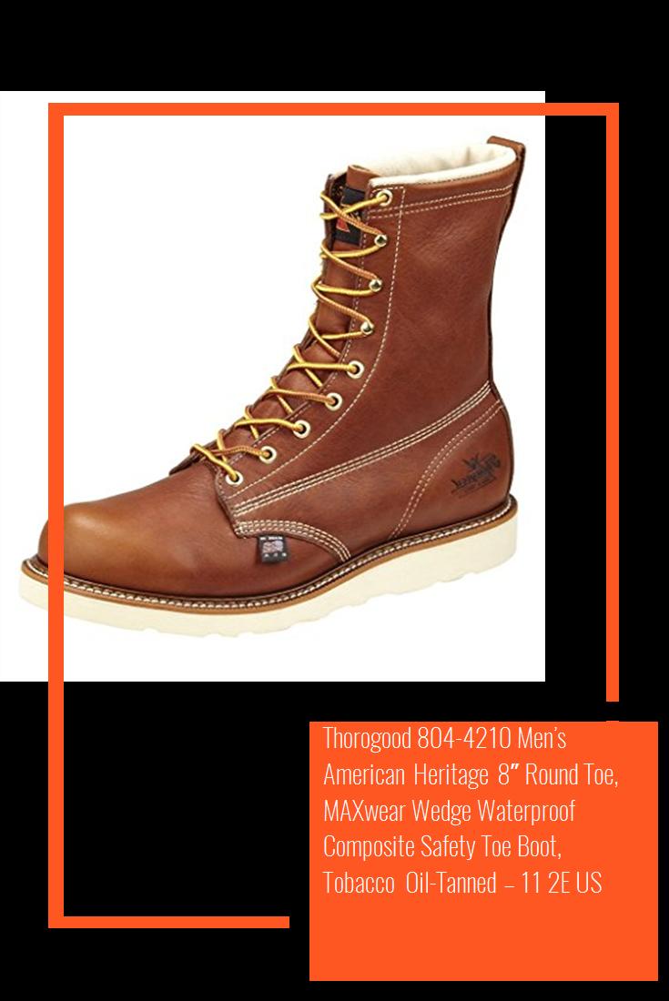 72459fcac75 Thorogood 804-4210 Men's American Heritage 8″ Round Toe, MAXwear ...