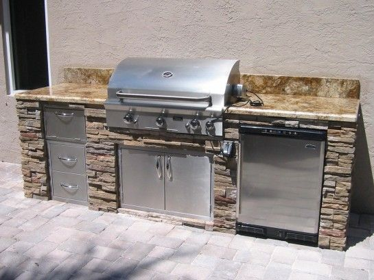 Fascinating costco outdoor kitchen using bbq pro 4 burner for Gasgrill fur outdoor kuche