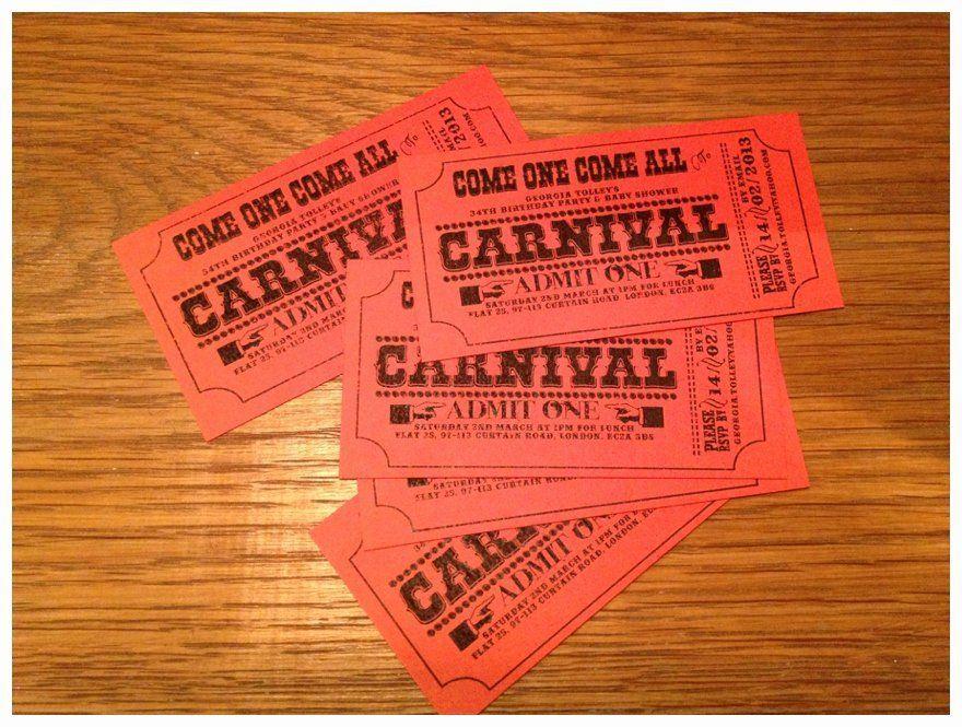 Carnival Ticket Invitation Template Unique 11 Best S Of Carnival Punch Card Free Carnival Ticket Invitations Carnival Invitation Template Carnival Invitations