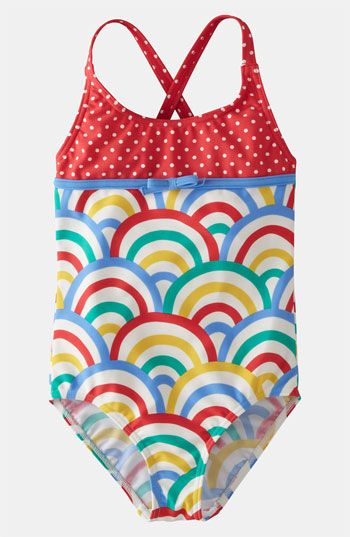 27423d52cd Primary colors with a twist. Mini Boden One Piece Swimsuit (Little Girls &  Big Girls) available at #Nordstrom