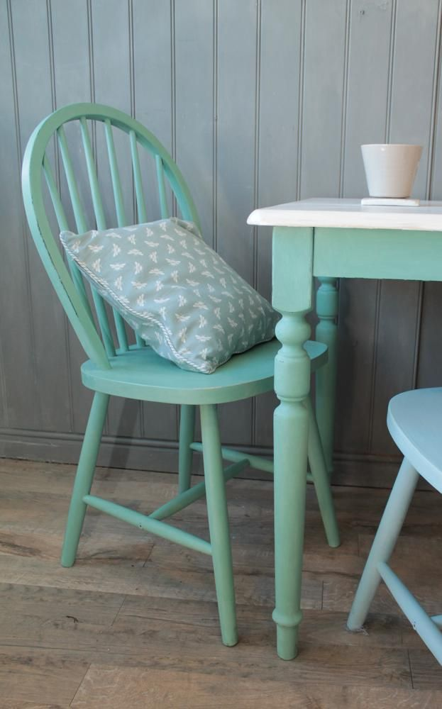 Custom mix of Louis Blue and Antibes Green Annie Sloan is part of Chalk paint -