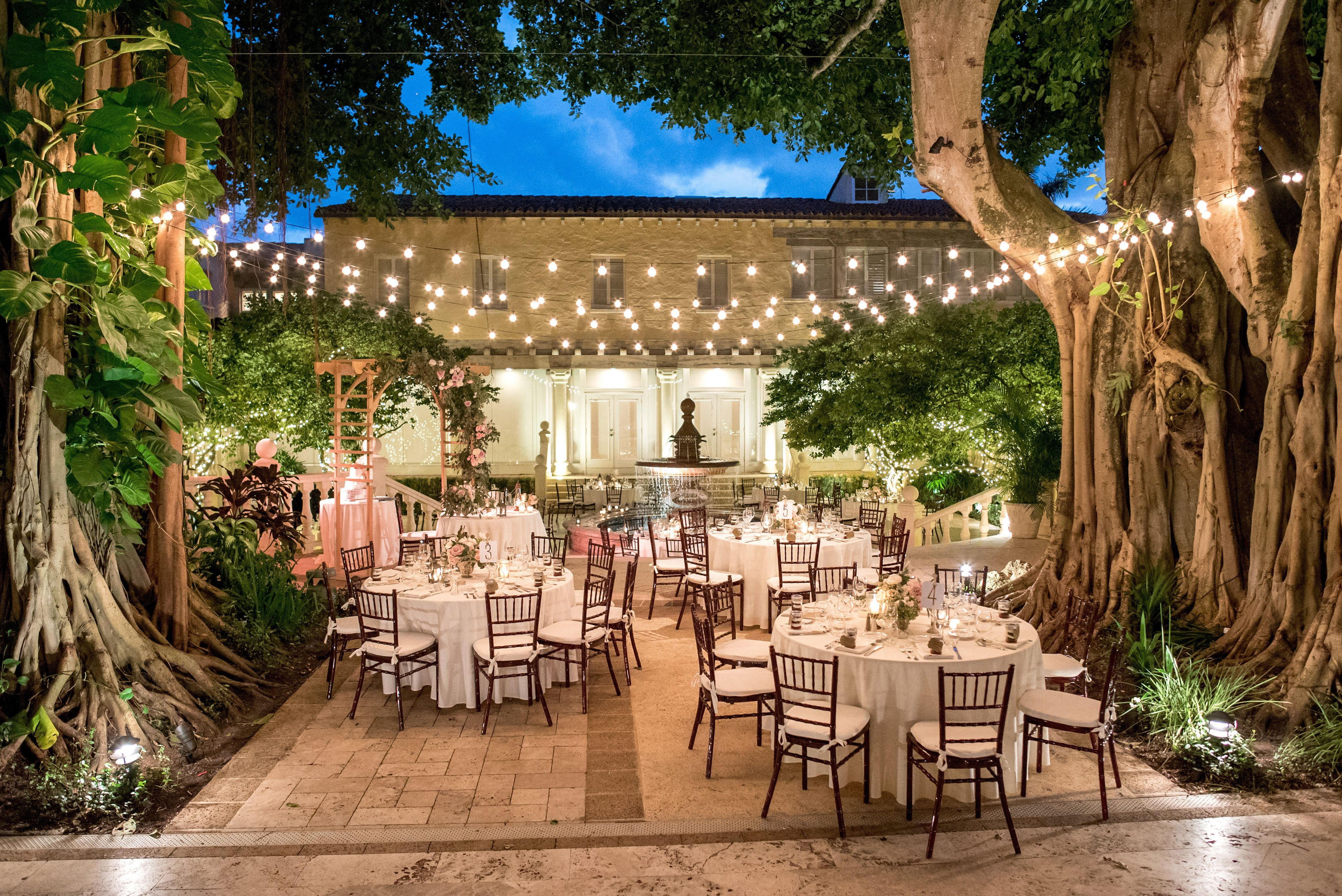 Courtyard The Addison Boca Raton Wedding Venue Decorations
