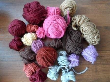 вязание коврика из остатков пряжи вязание спицами вязание