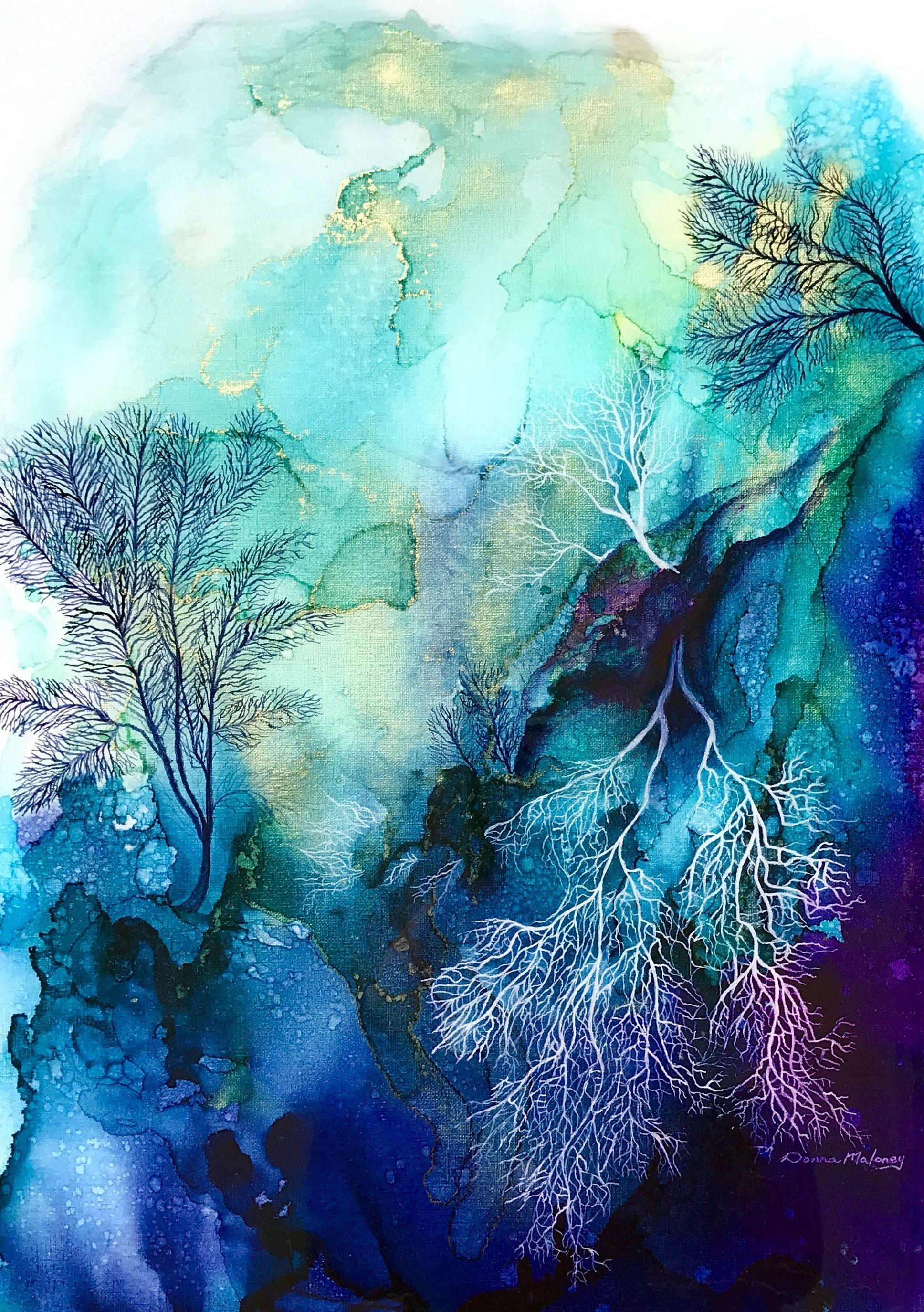Coral Reef 3 in 2020 | Coral painting, Coral reef art ...