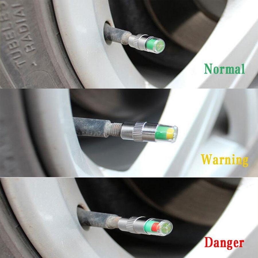 8 Pcs Car Tire Pressure Monitor Valve Cap w/ Sensor