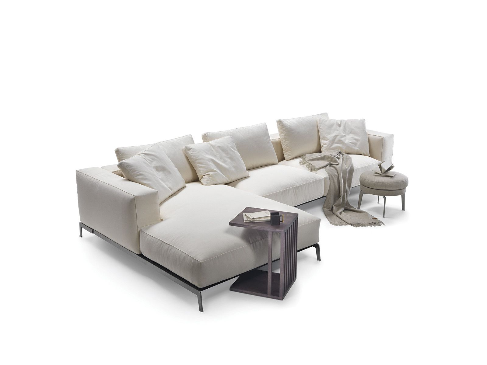 ETTORE Sofa with chaise longue Ettore Collection by FLEXFORM