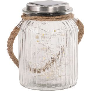 Buy Heart of House Rio Solar Glass Rope Jar with 50 LED Lights at
