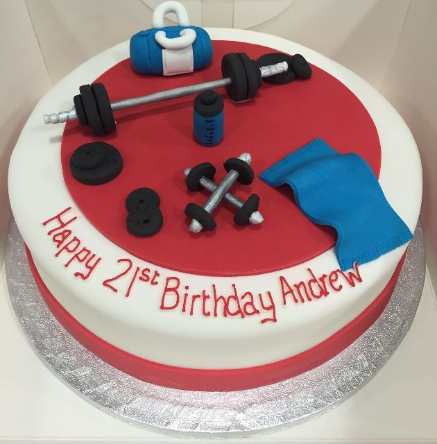 Gym Workout Cake Fitness Cake 21st Birthday Cakes Gym Cake