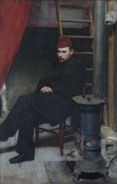 Portret rzeźbiarza Konstantego Laszczki - Józef Mehoffer