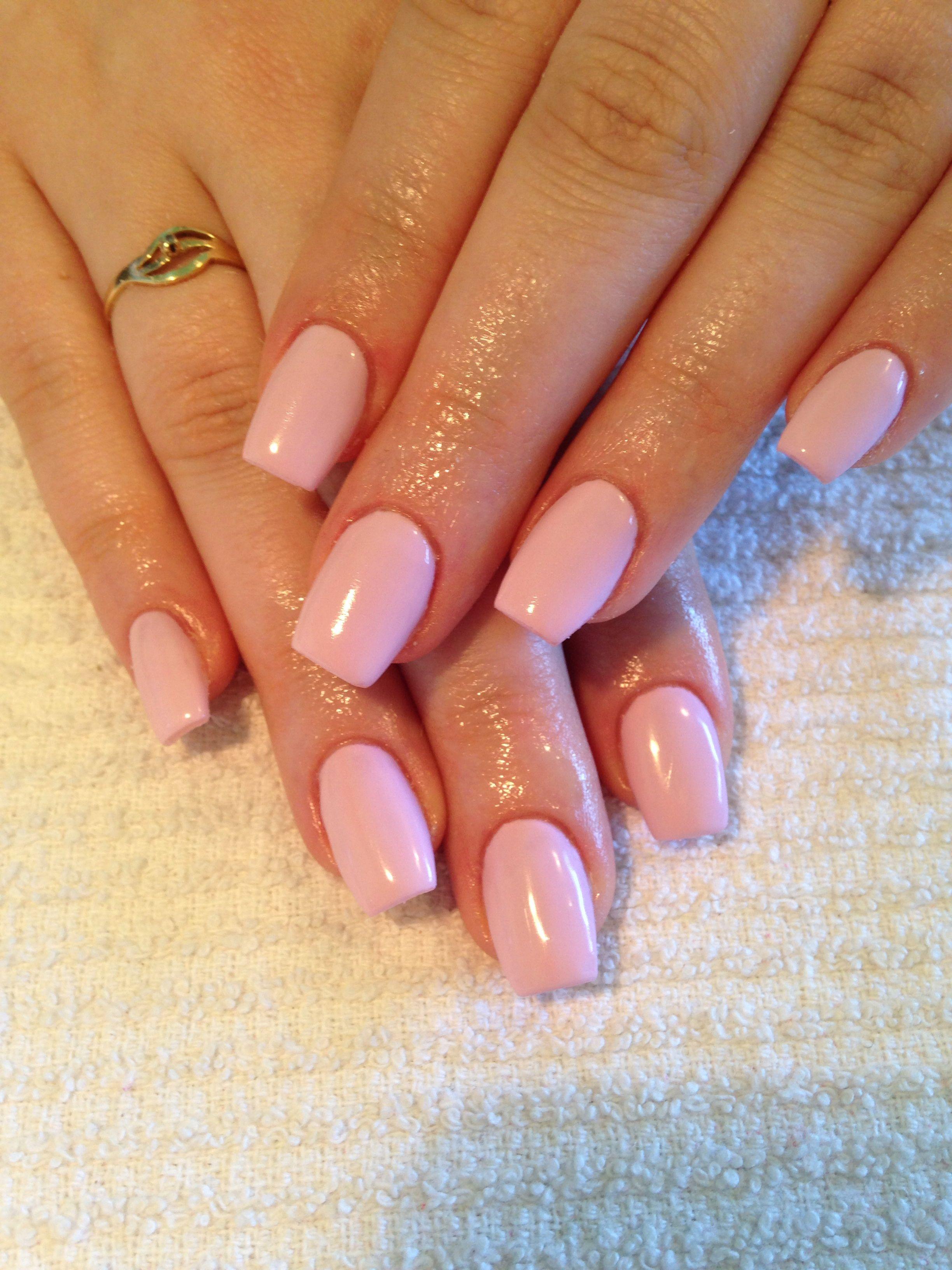 Pastel Pink Gel Nails