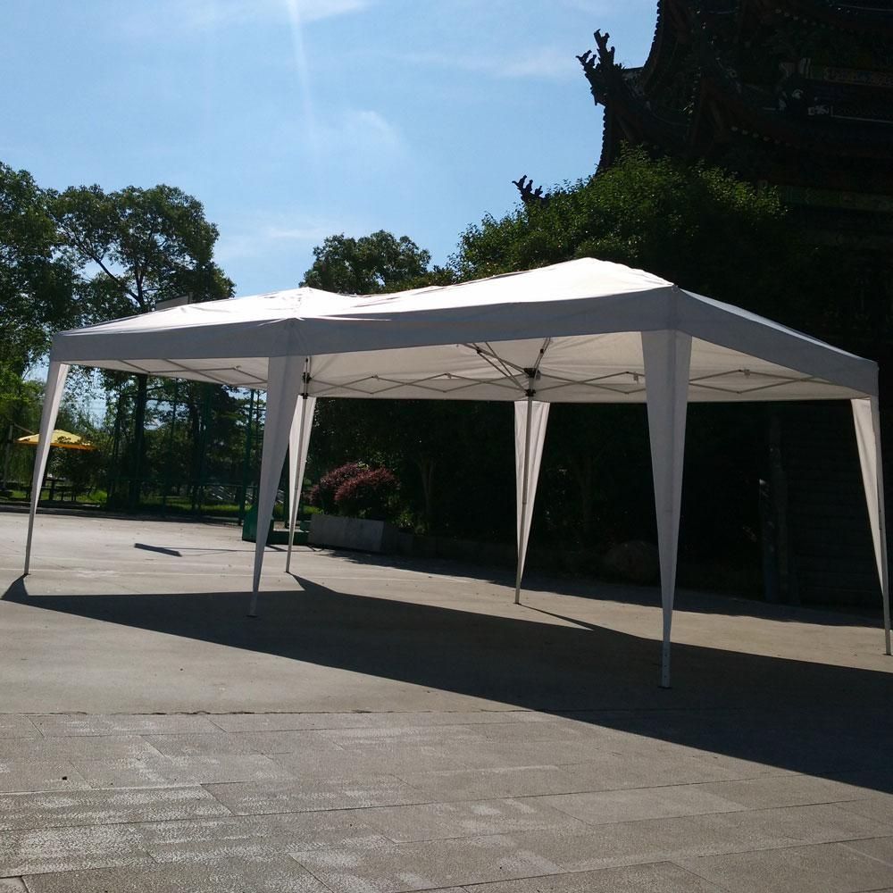 Easy Pop Up Tent 10 X20 Canopy Folding Gazebo Wedding Party Beach Backyard Instant Shelter With Carry Bag Patio Tents Gazebo Beach Canopy
