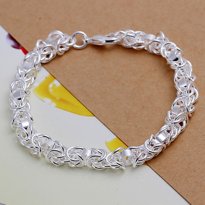 Bracelet 925 Jewelry Silver Plated Fashion Leading Shrimp Buckle 20cm Chain Free Shipping Ppol Lh073