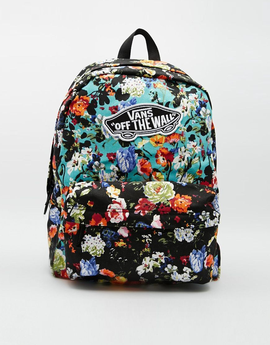 vans floral backpack