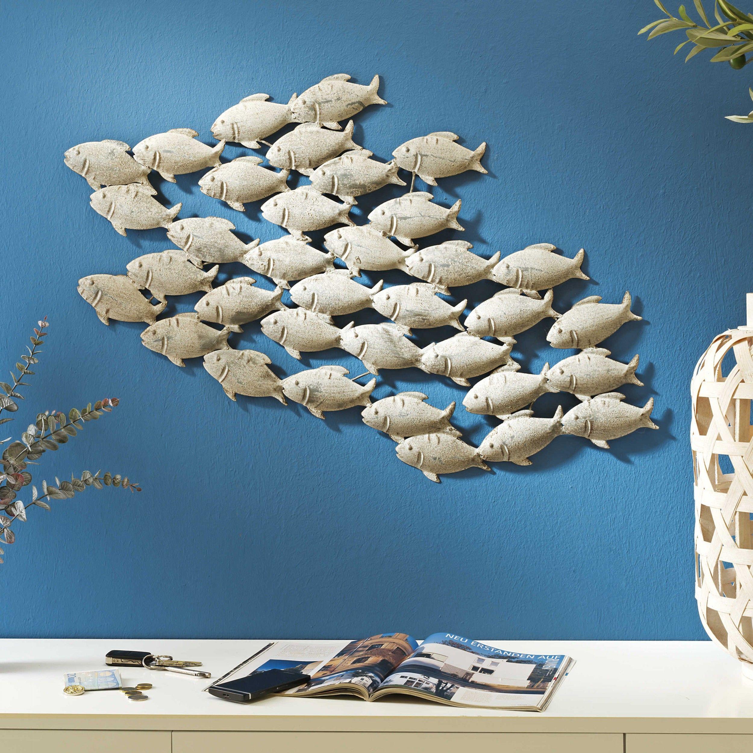 Wanddeko 97 x 53 cm Fischschwarm | günstig bei daheim.de | Ideen ...
