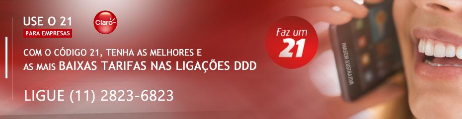 Use o 21 da Claro é um código para ligações DDD com tarifas mais baixas. Ligue (11) 2823-6823 #claro #claroempresas