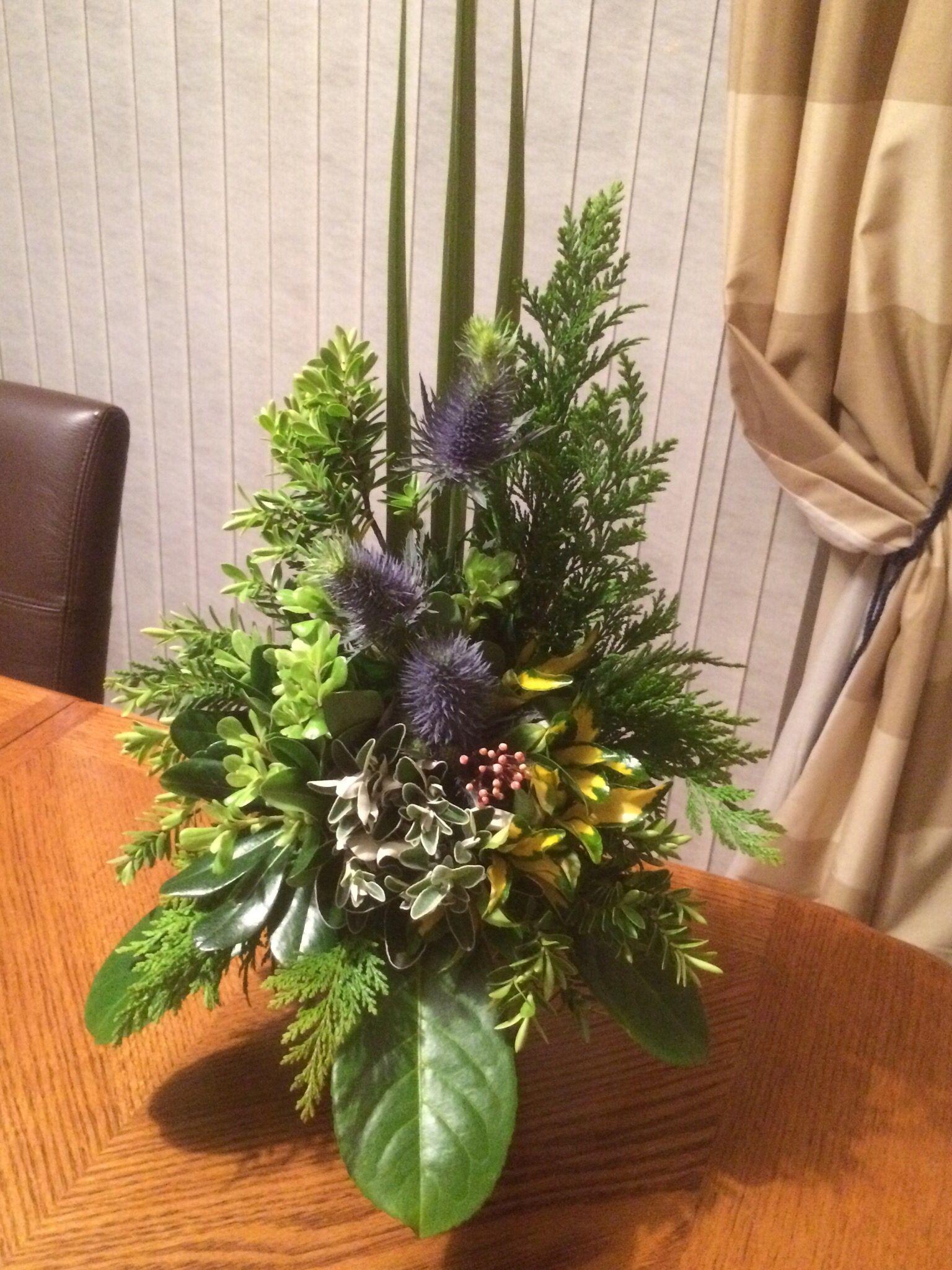 All Foliage Arrangement Green Arrangements Flower