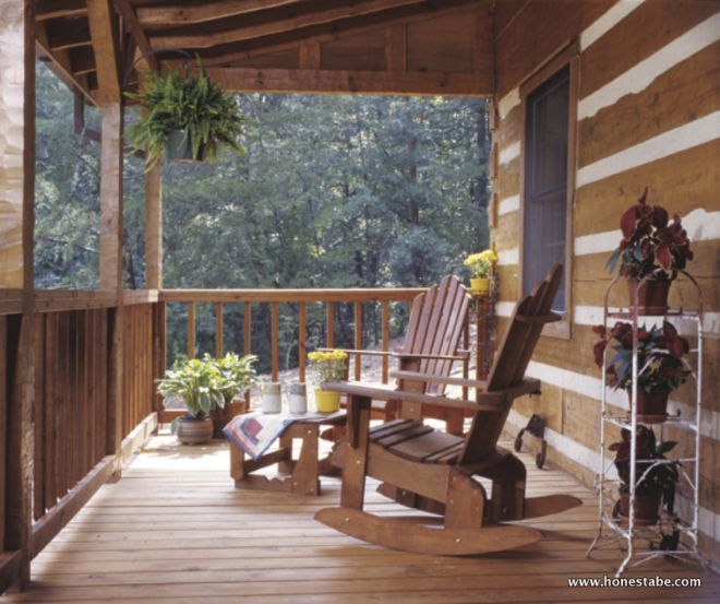This Rustic Log Cabin Has Front And Rear Porches But You Ll Love The Cozy Interior Log Cabin Living Cozy Interior Rustic Cabin