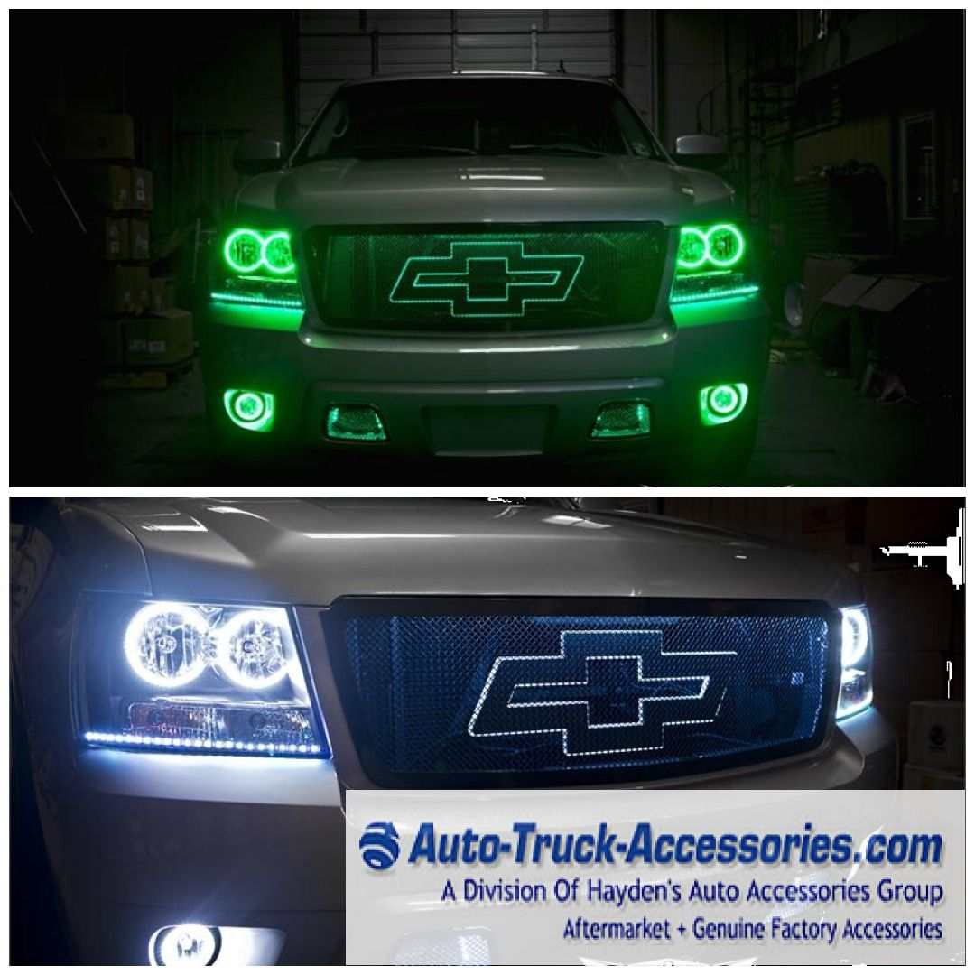 2007 To 2014 Chevy Tahoe Suburban Avalanche Oracle Halo Headlights Truck Accessories Chevy Chevy Tahoe
