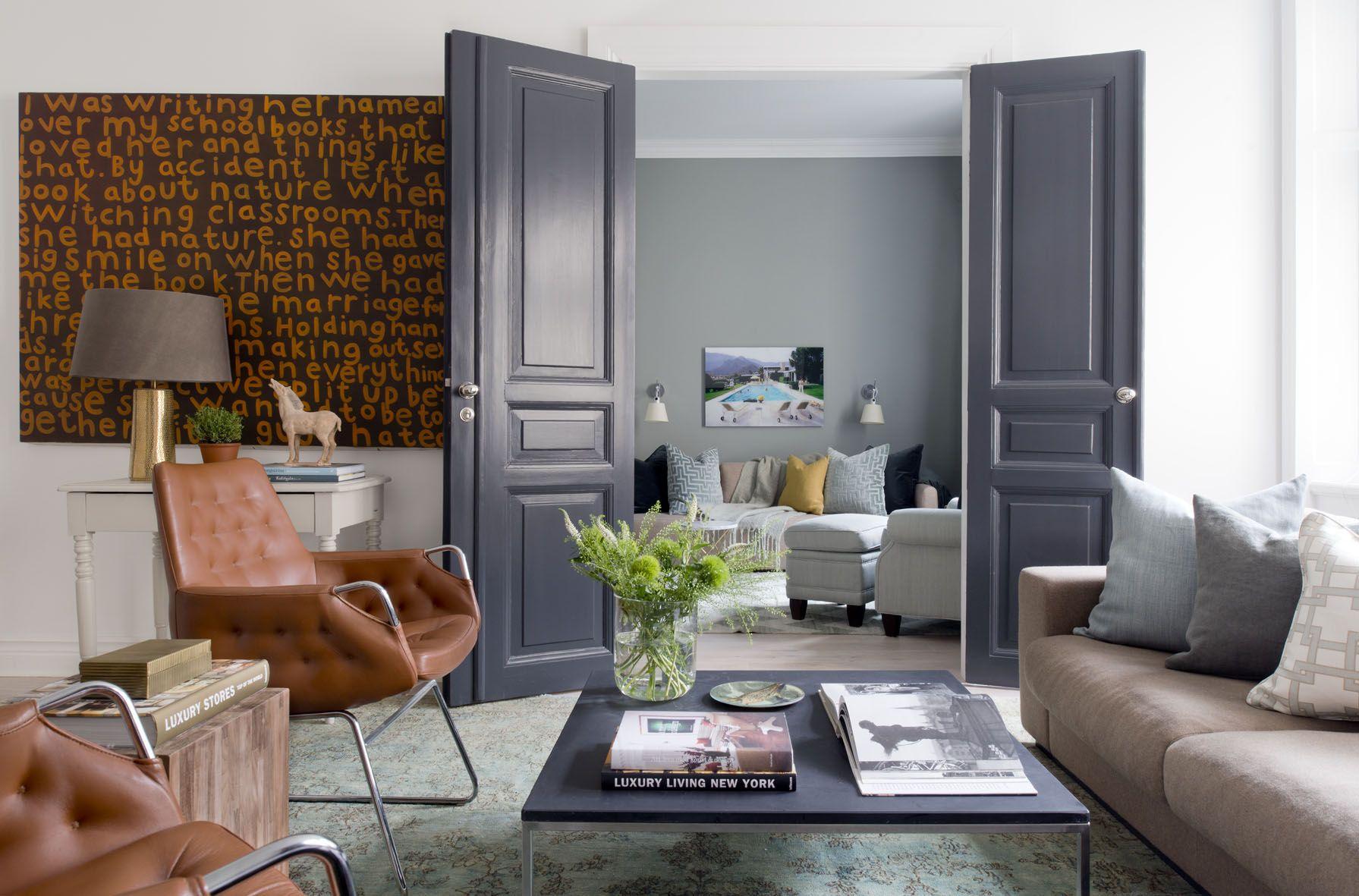 "Kristina Lifors Interior Design  ""bachelor Pad"" Living Room Interesting Design My Living Room 2018"