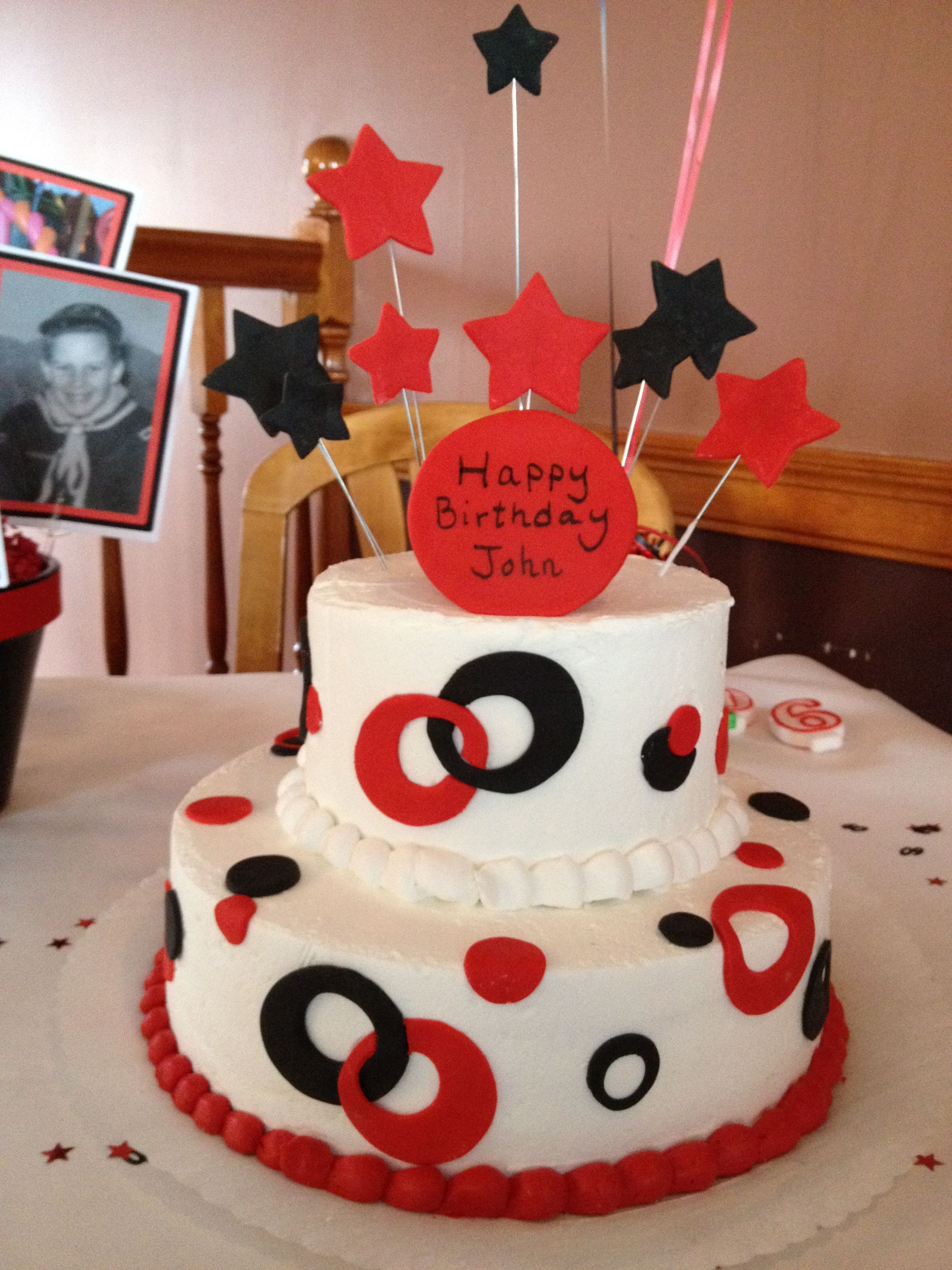 Red And Black 60th Birthday Cake Cookiescakes Ive Made