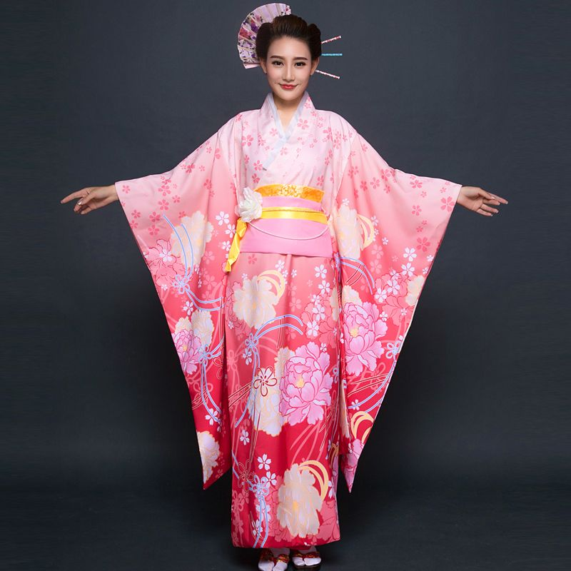 Click To Buy 2017 Summer Traditional Japanese Kimonos Japanese Silk Japanese Traditional Dress Japanese Traditional Clothing Traditional Japanese Kimono