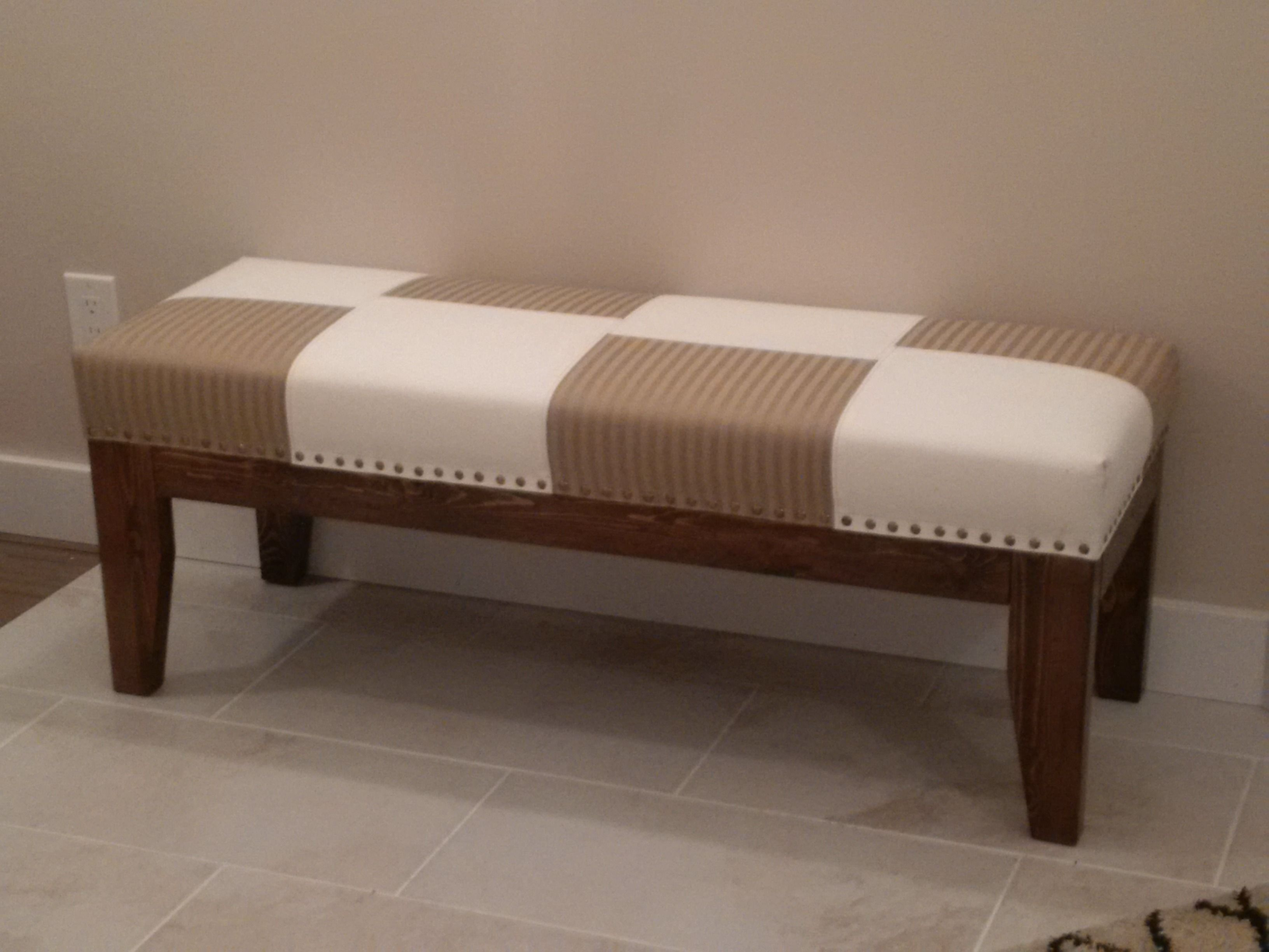 how to upholster a bench with storage