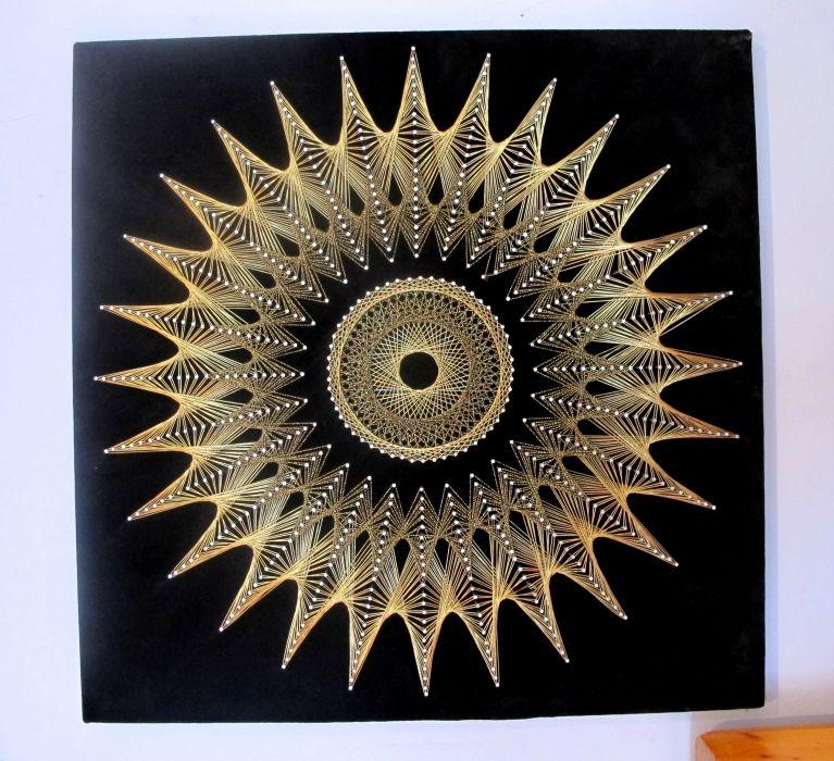 Sunburst string art do it yourself and wish list pinterest sunburst string art solutioingenieria Images