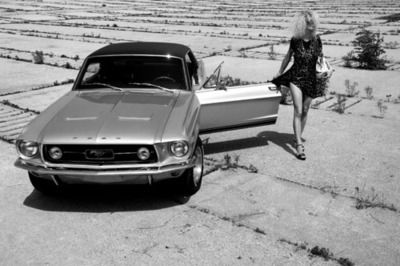 black and white, car, fashion, girl, photography