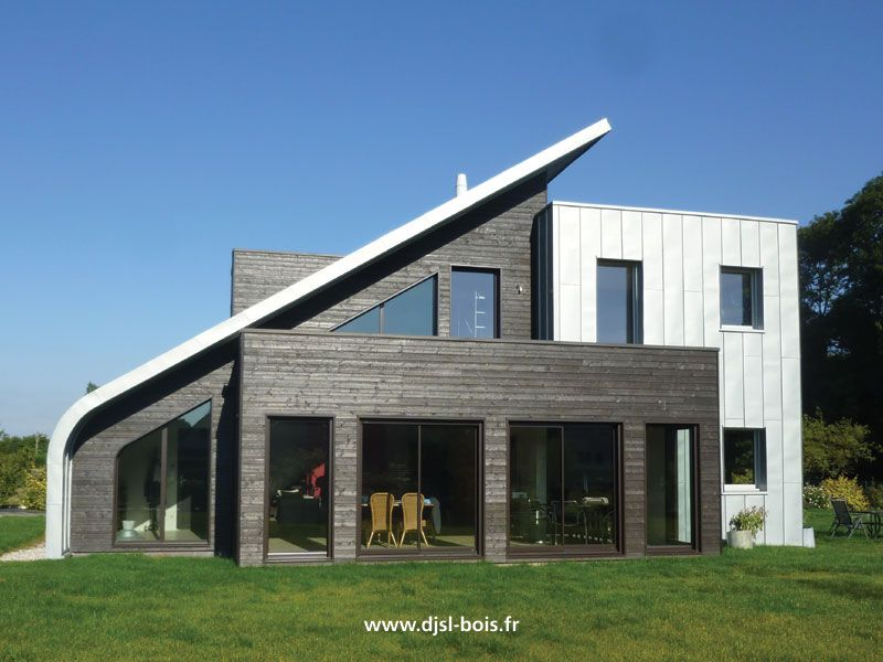 Maison en bois contemporaine bardage bois pinterest for Constructeur maison bois contemporaine