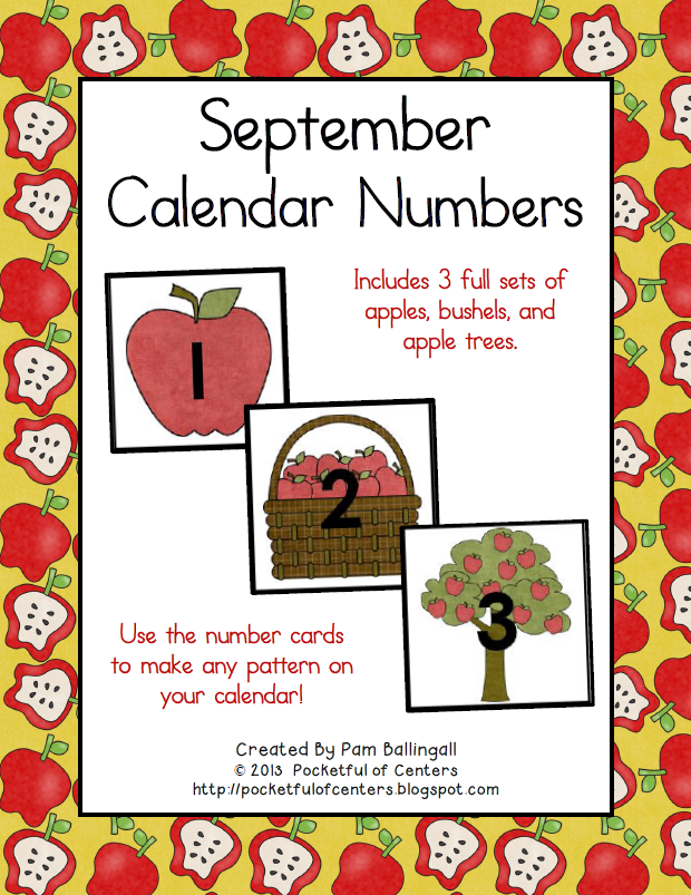 June Calendar Numbers For Preschool : September calendar numbers
