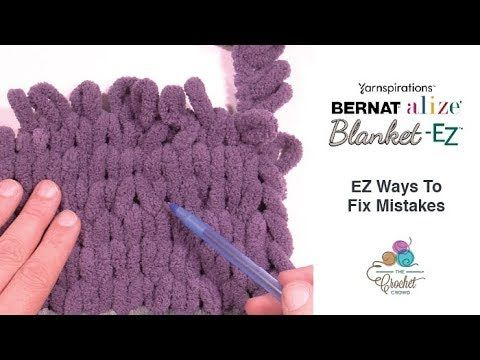 Fix Bernat Blanket-ez Stitches + Tutorial | Örgü ve elişi | Crochet