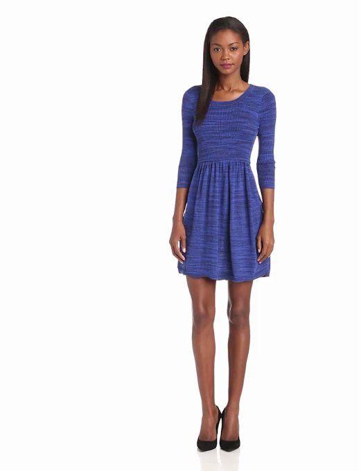 82d059dc4b0 Amazon.com  Kensie Women s Space Dye Sweater Dress  Clothing  stunning