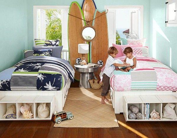 Habitacion ni o ni a la magia del color pinterest - Habitaciones infantiles compartidas ...