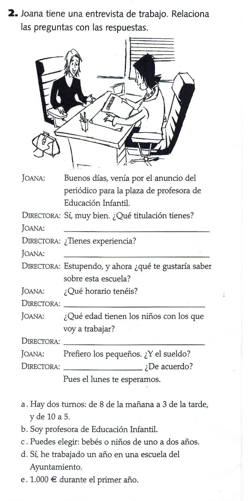 entretien d'embauche en espagnol, traduction entretien d
