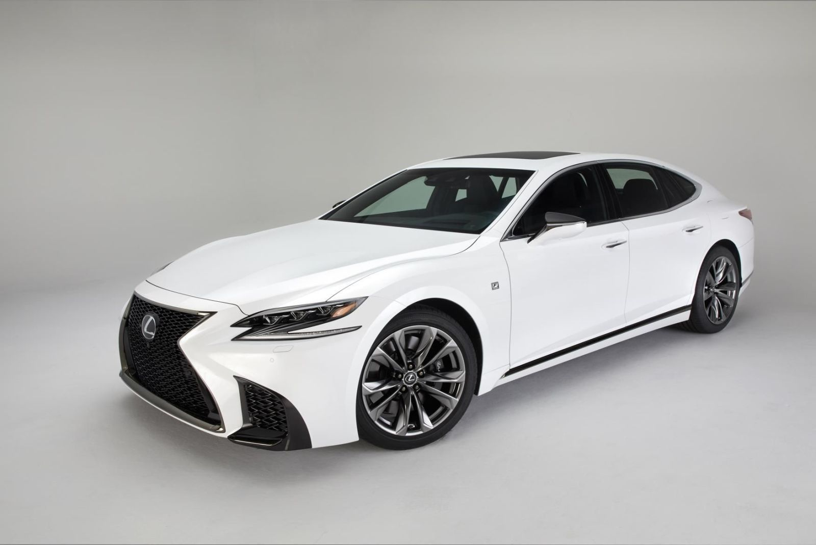The brand new lexus ls 500 f sport will only be available with a twin turbo v6
