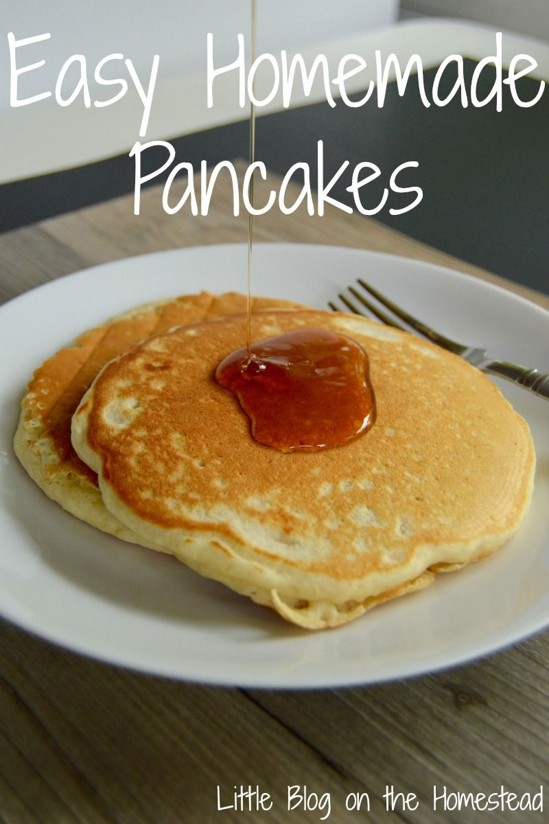 Easy Homemade Pancakes  The Ultimate Pinterest Party, Week 52