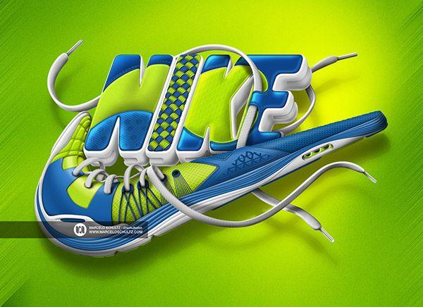 Nike designs on Behance   Image Making in 2019   Pinterest   Arte deportivo, Tipografia diseño ...