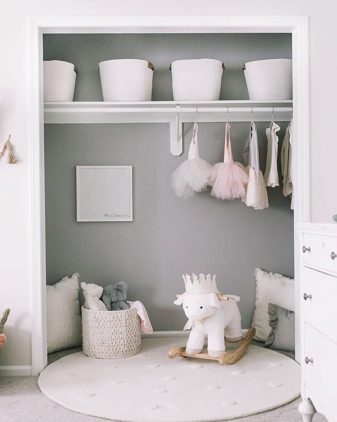 "iloveplum on Instagram ""If only our closet looked this neat and organized 👍🏻💪🏻🥰 @katiebethlamb everythinginitsplace closetgoals organizedcloset iloveplum"" is part of Toddler girl room -"