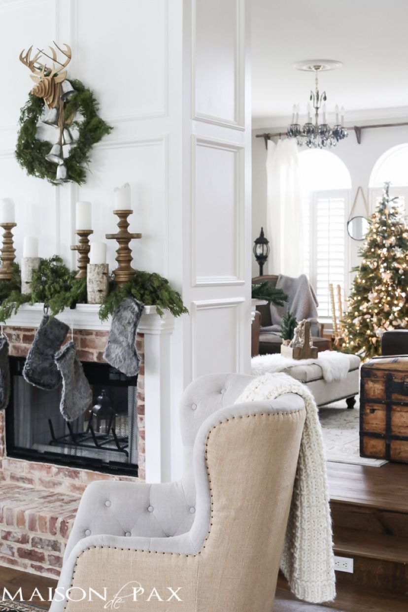 Green and White Christmas Decorating Ideas | i am bHome | Pinterest ...