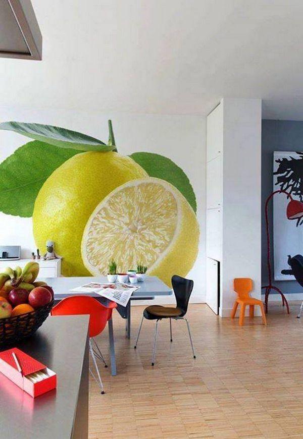 10 fotomurales para la cocina living spaces kids rooms - Fotomurales pared ...