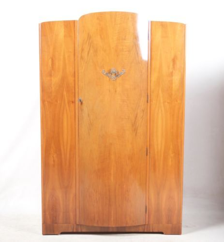 vintage antique furniture wardrobe walnut armoire. artdecowardrobewalnutvintagecompactumwardrobearmoire vintage antique furniture wardrobe walnut armoire c