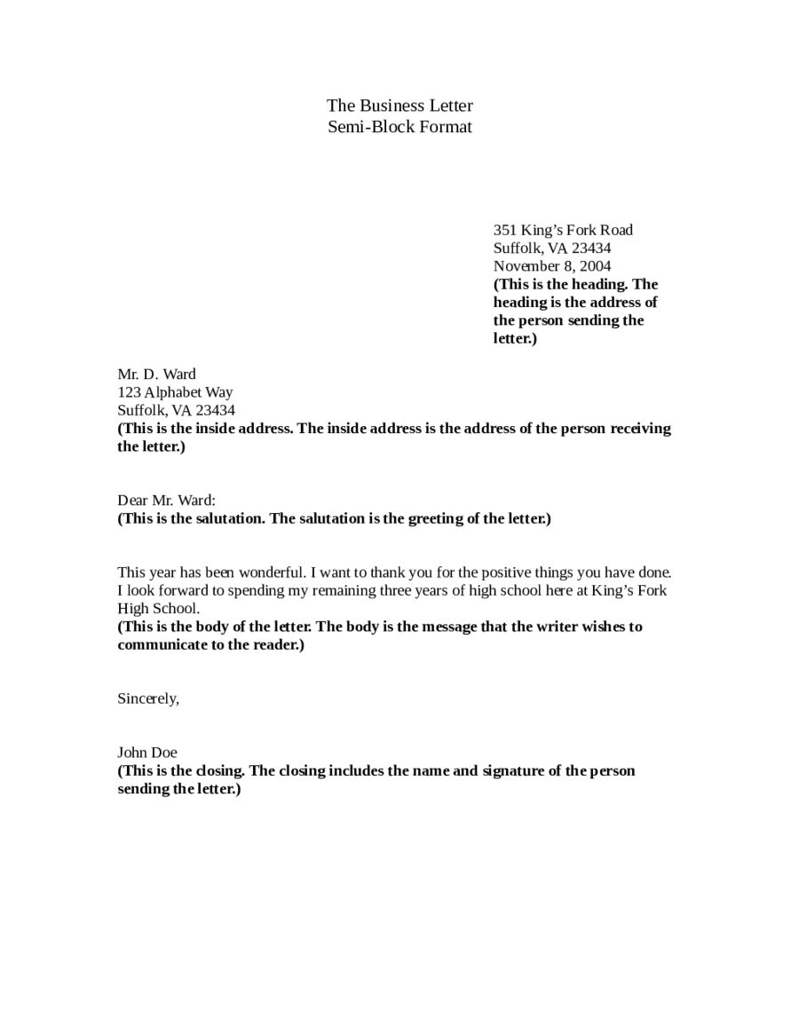 30+ Cover Letter Heading   Letter template word, Business letter ...