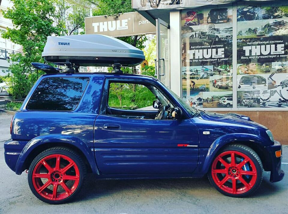 Thule Touring 100 Bortzhurnal Toyota Rav4 Wanna Be Low Rider 1994 Goda Na Drive2 Motos