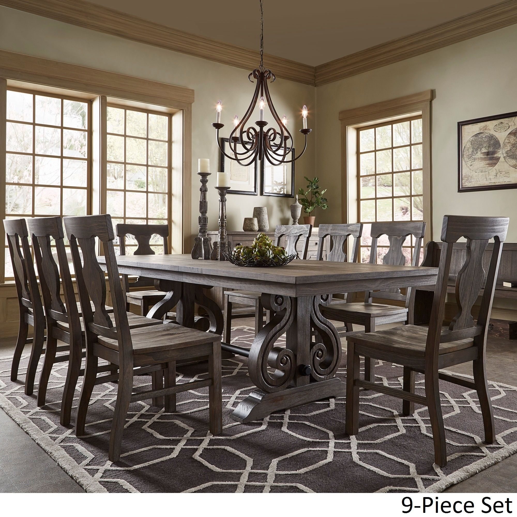 Dining Table Set Deals: Rowyn Wood Extending Dining Table Set By SIGNAL HILLS