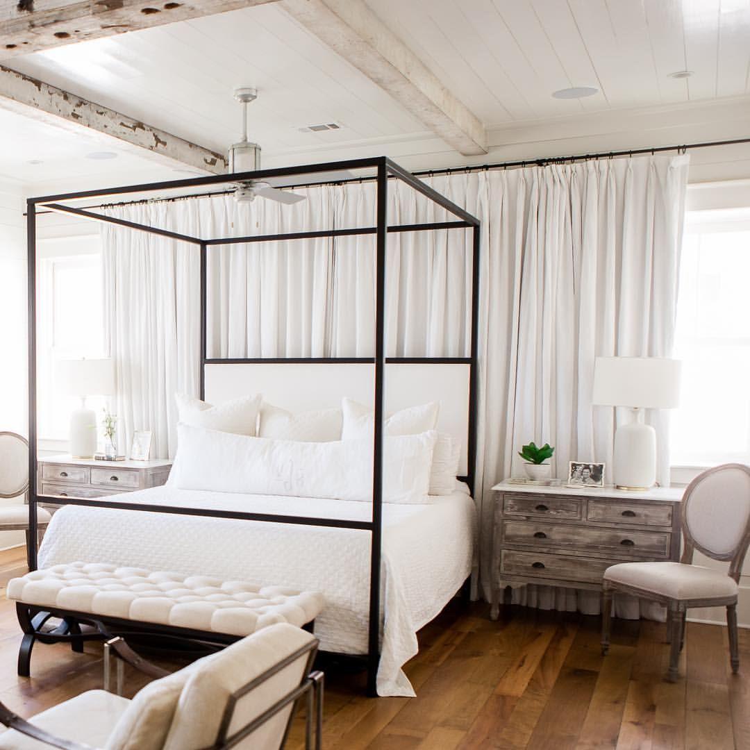 Gray curtains bedroom watercolor fl bedroomueueashleygilbreathinteriordesign  home sweet